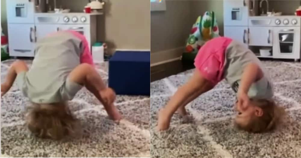 At the tender age of one, Harper's interest has already gravitated towards gymnastics.
