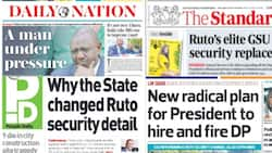 Kenyan Newspapers Review for August 27: GSU Officers Guarding Ruto's Karen Residence Hesitated to Hand Over