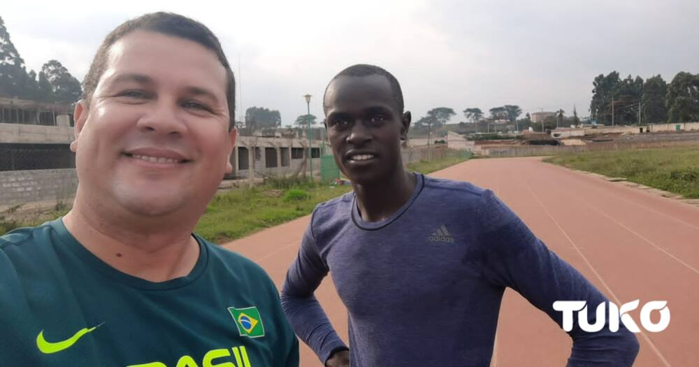 Viral running student Dennis Cheruiyot. Photo: Dennis Lubanga.