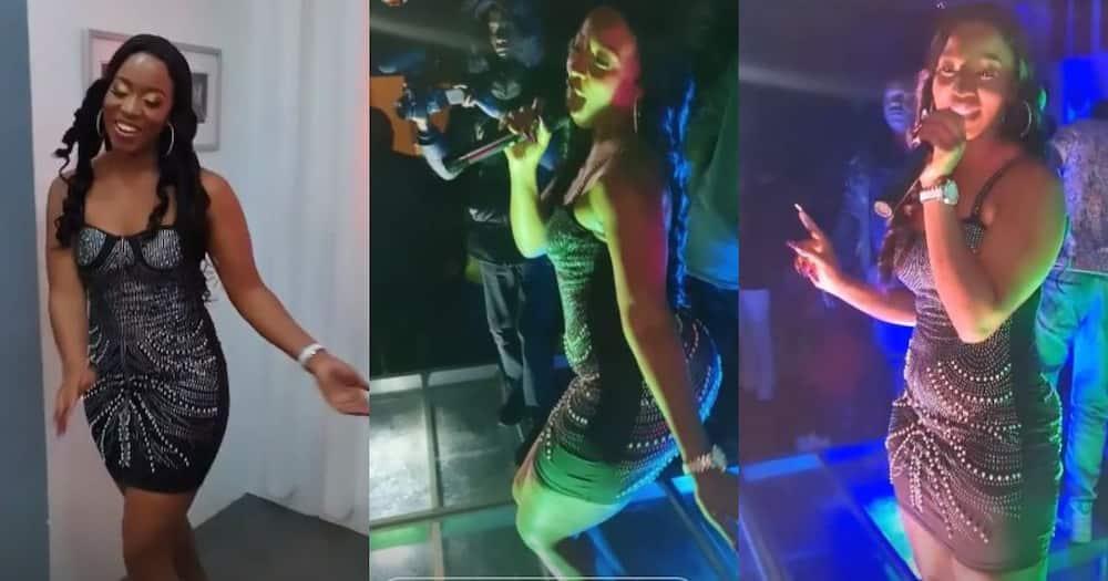 Diana Marua partying.