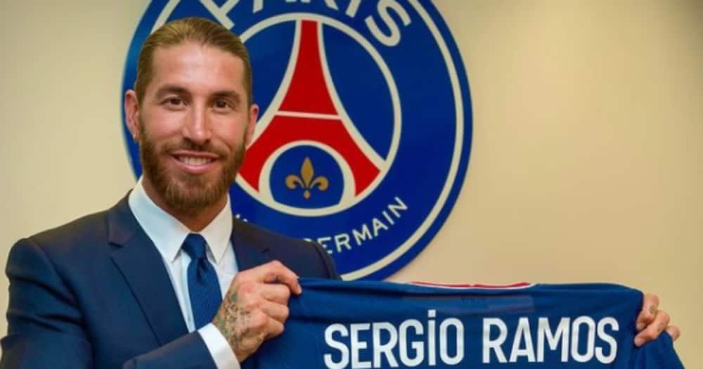 Sergio Ramos in PSG colours.