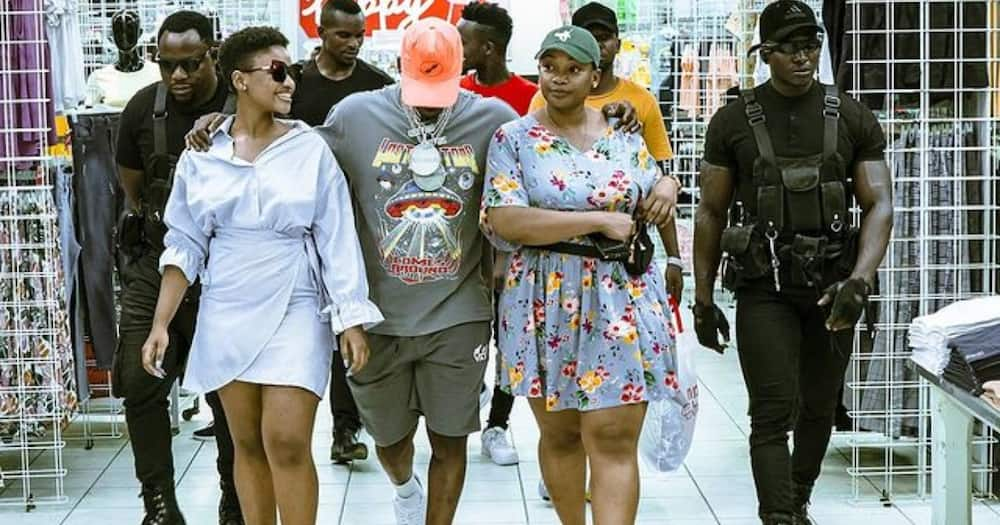Harmonize takes his girlfriend's grown-up daughter on shopping spree