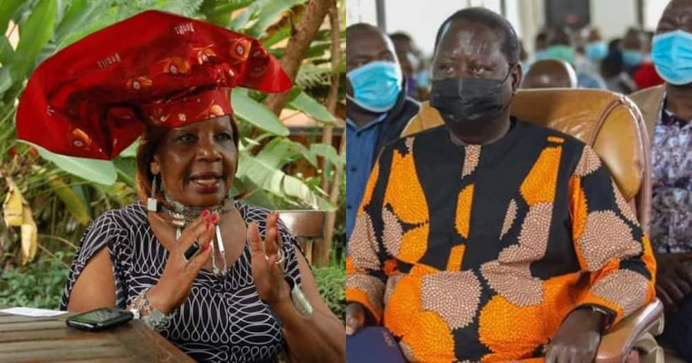 Collage of Orie Rogo Manduli (l) and ODM leader Raila Odinga (r). Photo: Raila Odinga.