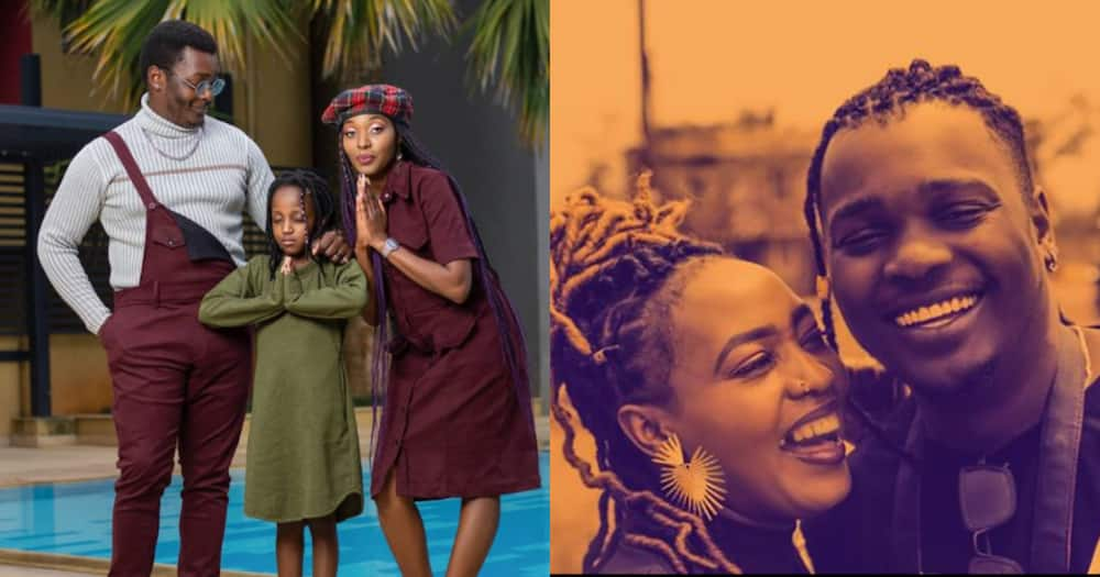Nyce Wanjeri, lover pose in lovely blended family picture alongside her daughter