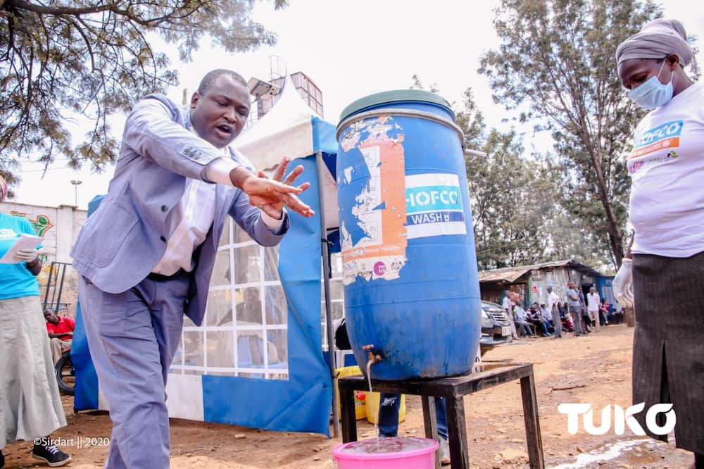 SHOFCO founder and CEO Kennedy said the organisation has screened 1,830,931 people for COVID-19. Photo: Enoch Ndalaya
