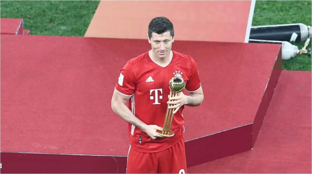 Bayern Munich ace Robert Lewandowski. Photo: Mahmoud Hefnawy.