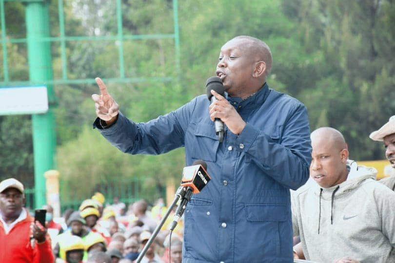 Oscar Sudi aongoza maandamano ya amani Eldoret