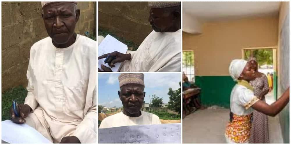 The 62-year-old illiterate Nigerian man. Photo Credit: @bbcnewspidgin, blog.unicef.