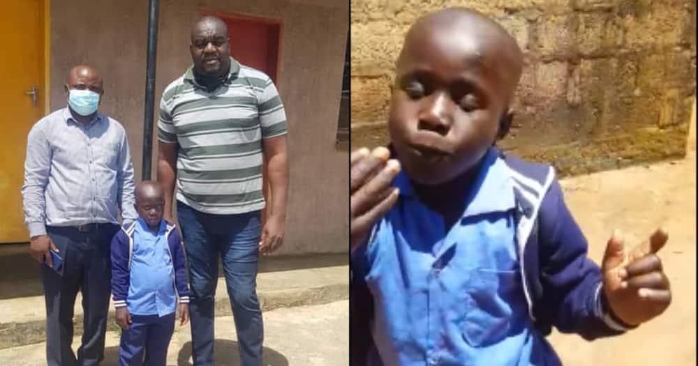 Grade 2 boy joyfully sings, dances as he returns to school after sponsors clear his fees