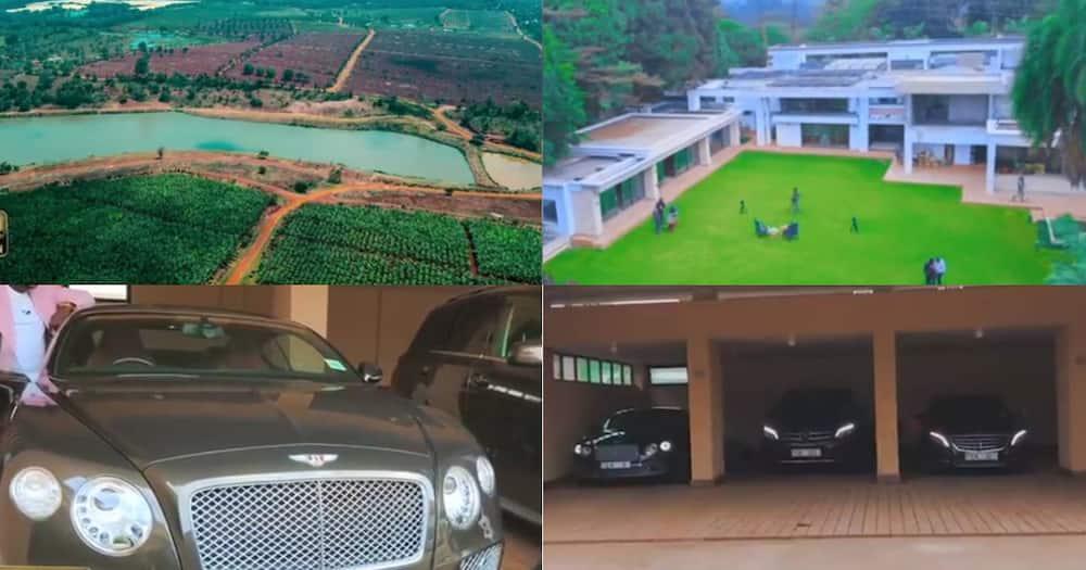 Chris Kirubi shows off his massive house, lake and expensive car collection