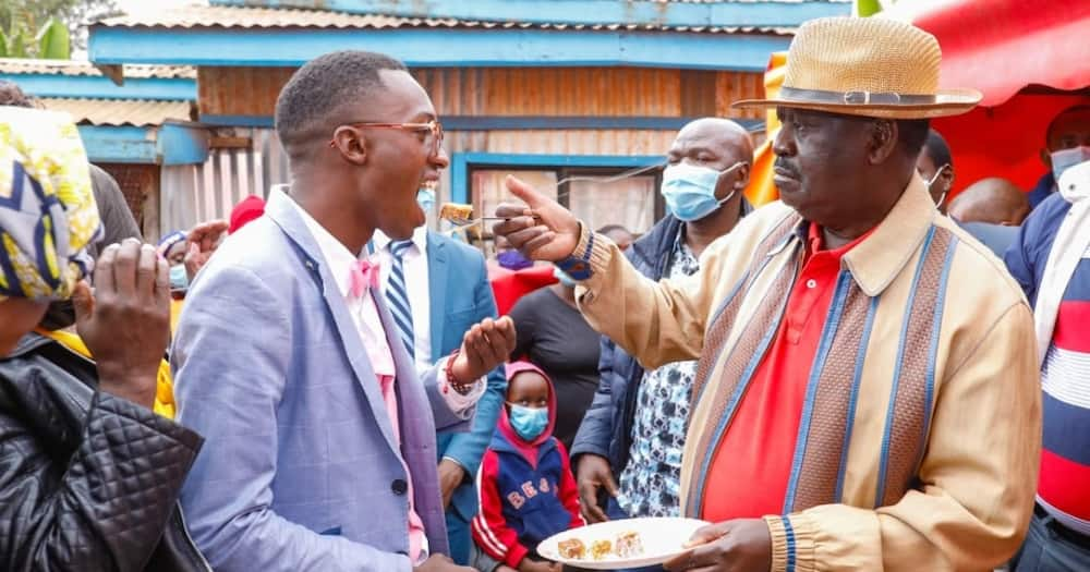 Kiambu Man Who Invited Raila to His Birthday Excited after ODM Leader Makes Surprise Visit