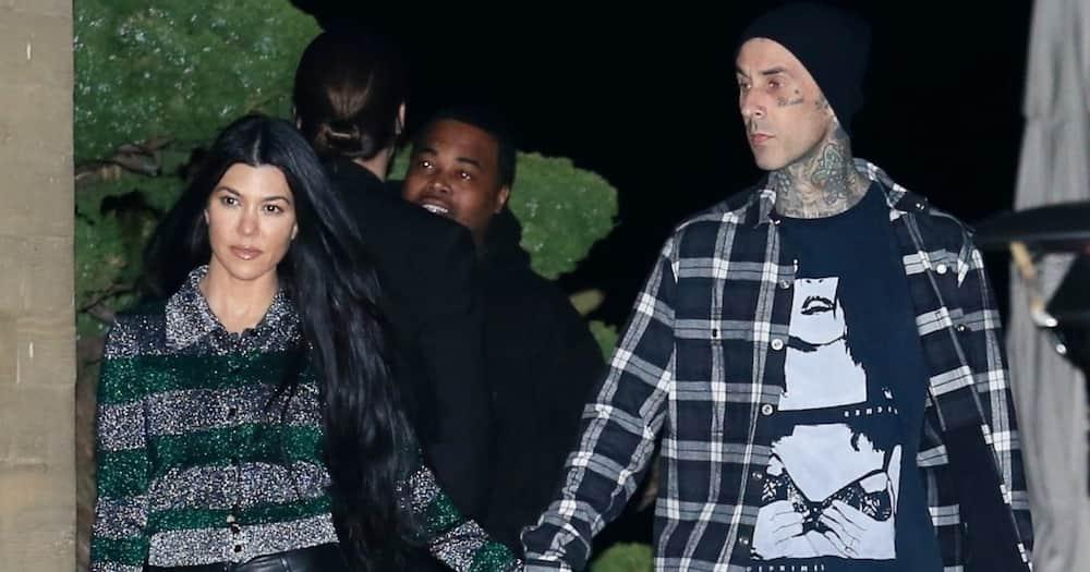 Kourtney Kardashian and Travis Barker. Photo: Getty Images.