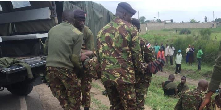 Mwanajeshi wa KDF, afisa wa polisi waliofyatuliana risasi waaga dunia