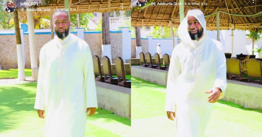 Hassan Joho looked lovely in his white kanzu outfit. Photo: @joho_001.