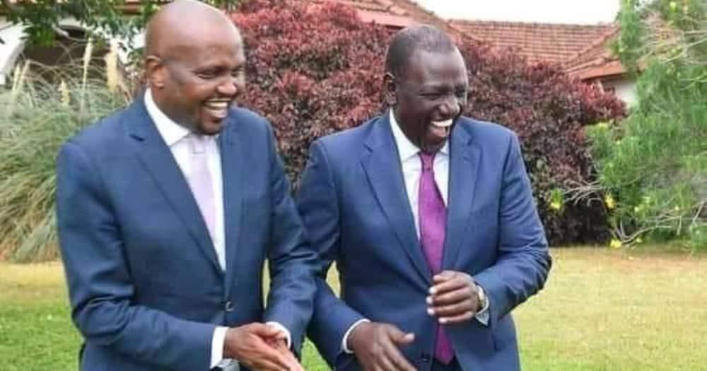 Ujumbe mzito wa 'Birth day' wa DP Ruto kwa mbunge Moses Kuria