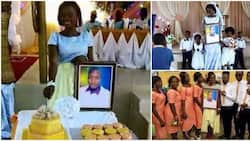 Lady Gets Married to Photo of Her Lover after the Man Said He is Busy Abroad