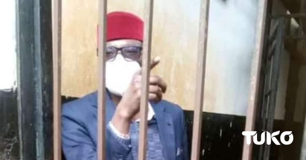 MP Didmus Barasa at Kimilili Law Courts. Photo: TUKO.co.ke.