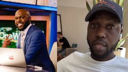 Larry Madowo Catches Himself Live on TV While at a Restaurant in Dubai