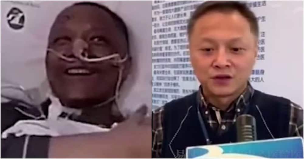 Daktari wa China aliyebadilika rangi ya ngozi ikawa nyeusi akitibiwa COVID-19 apona