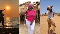 """6 Lovely Photos of Lilian Muli as She Vacations in Northern Kenya: """"Isn't It Beautiful?"""""""