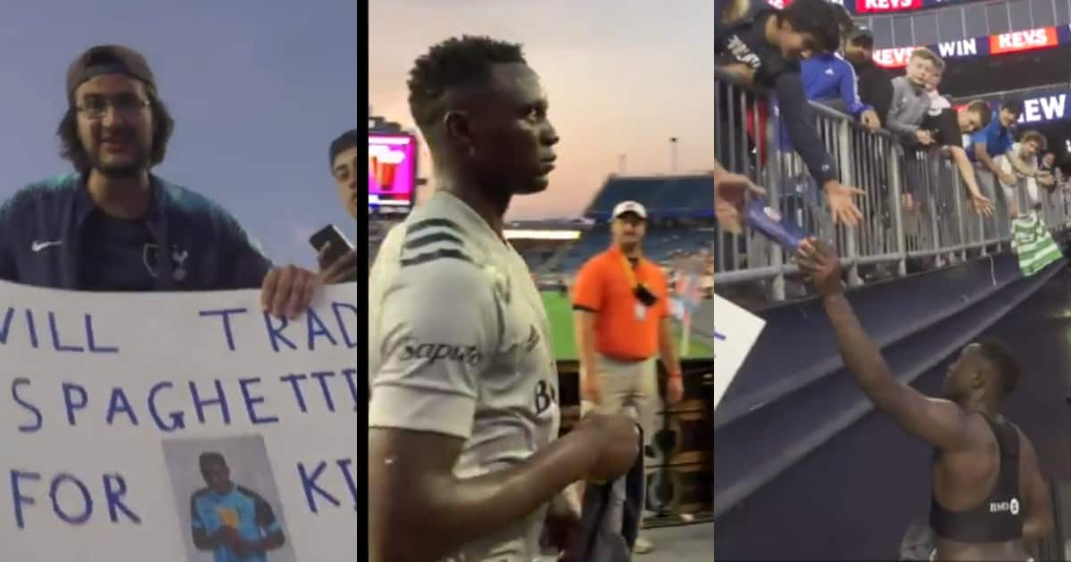 Delightful Moment as Victor Wanyama Trades His Shirt for Fan's Spaghetti in MLS