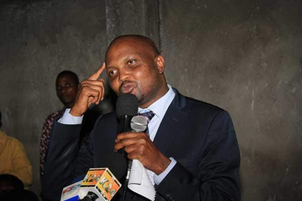 Gatundu South MP Moses Kuria has not resigned, says life is in danger
