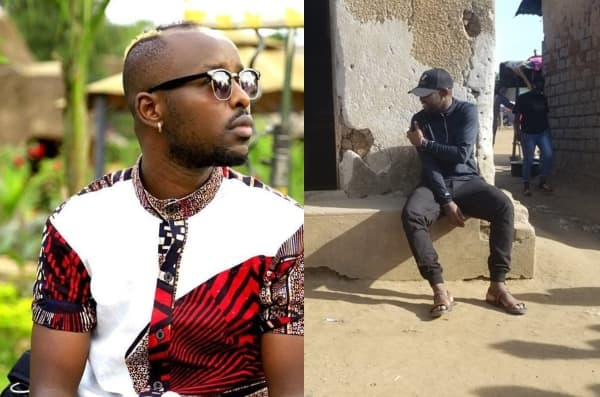 Touching moment as Ugandan sensational singer Eddy Kenzo visits mud house formerly his home
