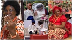 64-Year-Old Woman Finally Marries for 1st Time, She Said God Did It for Her
