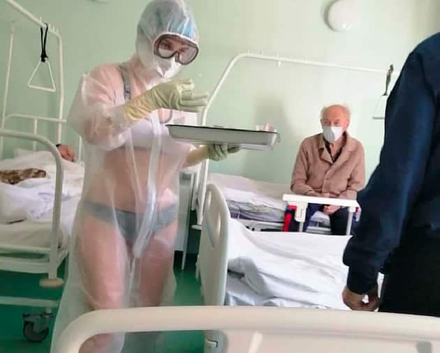 Nurse punished for wearing transparent PPE in male coronavirus ward without inner clothes