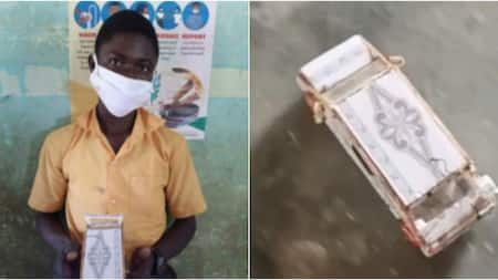 13-year-old boy builds own car with phone board and T&J scraps