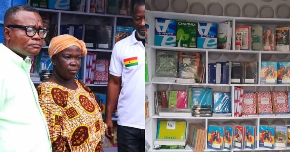 Alumni of UPSA give fully-stocked stationery shop & money to woman they used to send back in school