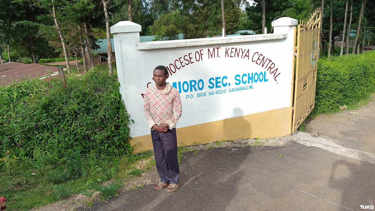 Most improved student in 2018 KCSE exams speaks