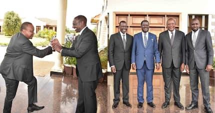DP Ruto holds Raila, Uhuru for lunch at his Karen house