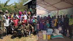 KDF soldiers deployed to North Eastern on Christmas eve celebrate day in children's home