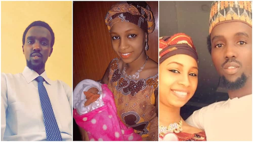 Man shares photos of 18 year old wife who gave birth at 17 days before she marked birthday, Nigerians react