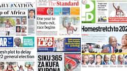 Kenyan Newspapers Review For August 9: Plot To Postpone Polls Emerges as Uhuru's Last 365 Days In Office Begin