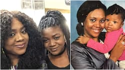Nollywood actress Stella Damasus stuns with 21-year-old TBT photo of herself and daughter