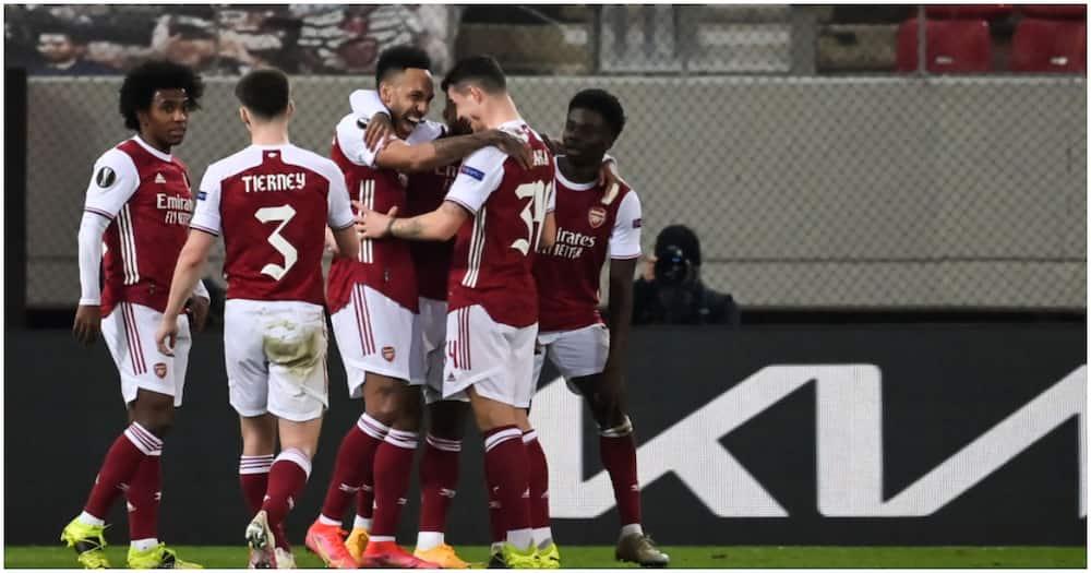 Europa League: Auba match hero as Arsenal spring comeback vs Benfica to reach last 16