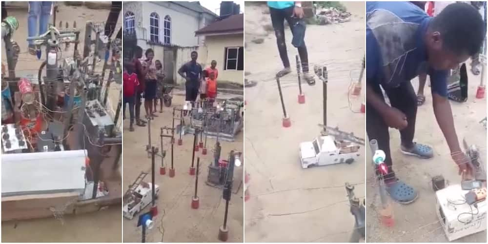 Young Nigerian boy builds power plant, invites people to charge their phones