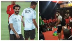 Mo Salah Shares Moment with Harambee Stars Team in Dressing Room after AFCON Qualifier