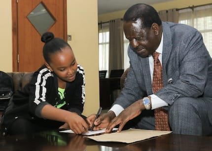 13-year-old gymnast Wendy Waeni gets wish of meeting Raila after Raila Junior's intervention