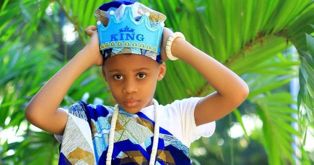 Ali Kiba's son is certainly his look alike.