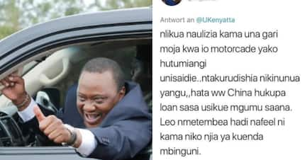 Kenyan man excites internet after asking Uhuru to lend him one car from motorcade