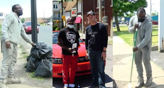 Teen gets rewarded with car, scholarship for cleaning after protests for 10 hours