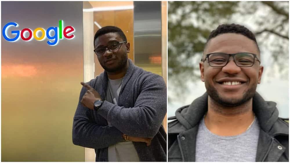 The man said the Google job feels amazing. Photo:LinkedIn/Uchechukwu Uboh.