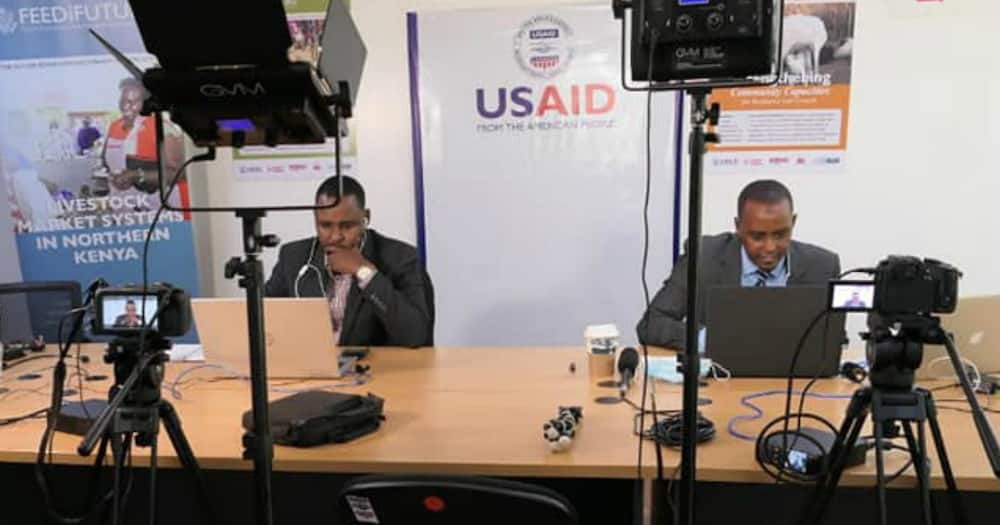 Former news anchors Hussein Mohamed, Yussuf Ibrahim proudly work alongside each other for USAID initiative