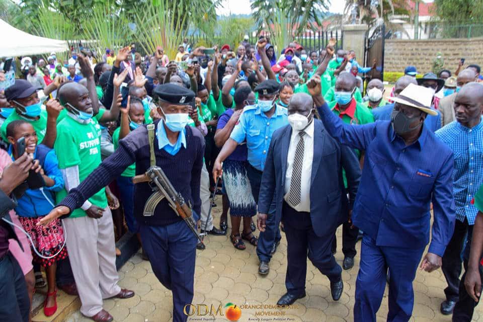 Raila akaribishwa ngome ya DP Ruto