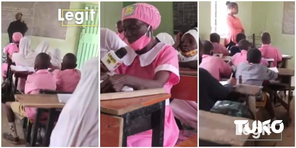 50-year-old woman enrolls in secondary school, says all subjects are easy for her except mathematics