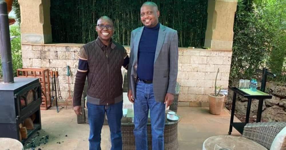 Jimmy Wanjigi (left) has set his eyes on the 2022 presidency.