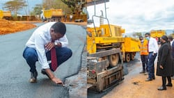 """Alfred Mutua Inspects Ongoing Construction of Roads in Machakos: """"I'm Impressed"""""""